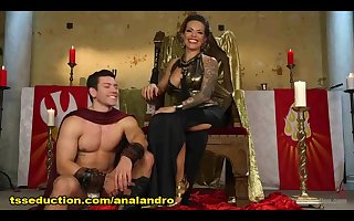 Goddess TS Foxxy Uses her Delicious Hard Dick to Torment a New Servant