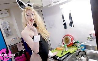 Ass-to-Mouth Carrots for Bunny Tgirl Sasha